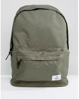 Backpack In Khaki Canvas