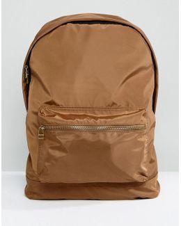Backpack In Tobacco Satin