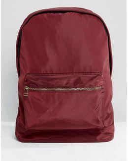 Backpack In Burgundy Satin