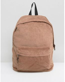 Backpack In Brown Cord