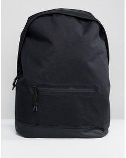 Backpack In Sleek Black With Aquaguard Zip