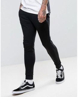 Super Skinny Joggers With Zips In Black