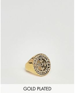 Pinky Signet Ring In Gold Plated