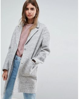 Fabric Interest Cocoon Coat