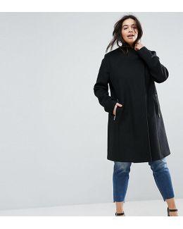 Smart Slim Coat With Funnel Neck