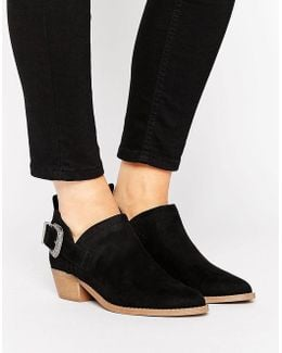 Western Suedette Low Ankle Boot