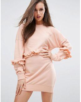 Frill Detail Sweat Dress