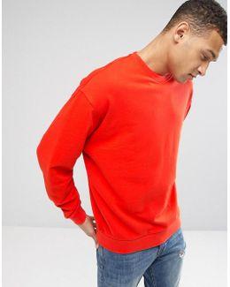Oversized Sweatshirt In Orange