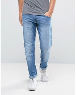 Tapered Fit Jeans In Cocktail Time Blue