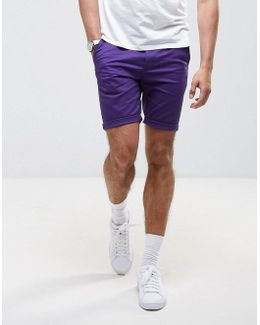 Skinny Shorts In Purple