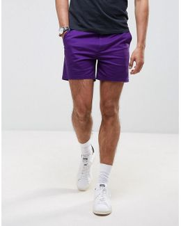 Slim Shorter Shorts In Purple