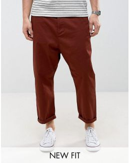 Oversized Tapered Chino In Rust