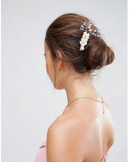 Wedding Faux Pearl Bead Hair Clip