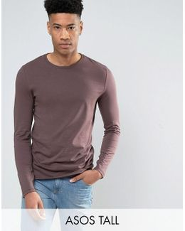 Tall Long Sleeve T-shirt In Purple