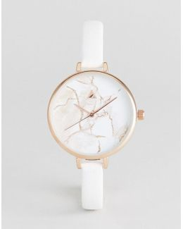 Skinny Strap Marble Watch