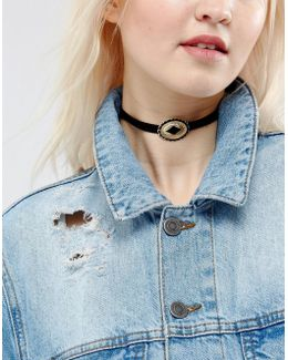 Western Buckle Choker Necklace