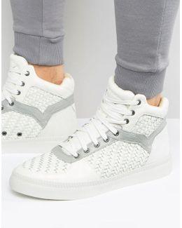 Spaark Weave Hi Top Sneakers