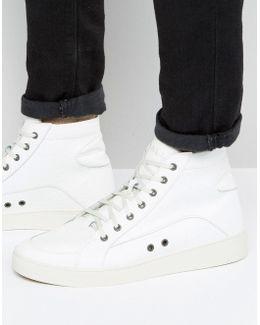 Groove Hi Top Croc Effect Sneakers