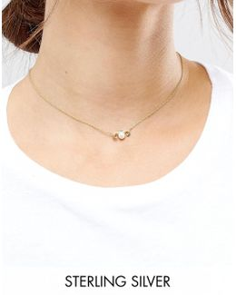 Sterling Silver Gold Plated Taurus Necklace