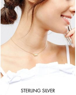 Sterling Silver Gold Plated Gemini Necklace