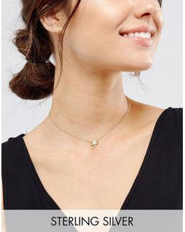 Sterling Silver Gold Plated Scorpio Necklace