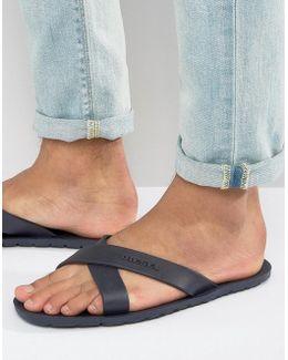 Wash Cross Over Flip Flops