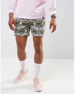 Slim Shorter Chino Shorts With Dragonfly Print