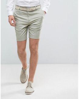 Slim Mid Length Smart Short In Green