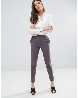 Muse Skinny Trousers In Tower Grey