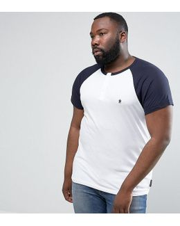 Plus Raglan Henley T-shirt