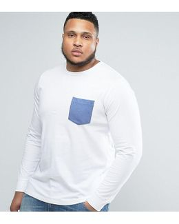 Plus Long Sleeve T-shirt With Pocket