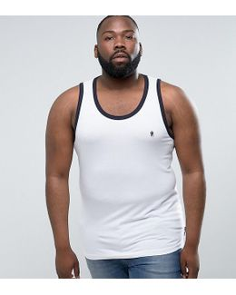 Plus Ringer Tank With Contrast Trim