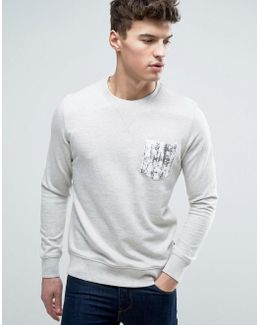 Originals Crew Neck Sweatshirt With Printed Pocket