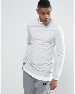 Muscle Longline Sweatshirt