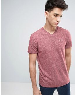 Slim Fit Core T-shirt Seagull Embroid Logo In Burgundy