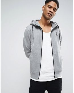 Core Zip Through Hoodie With Chest Branding