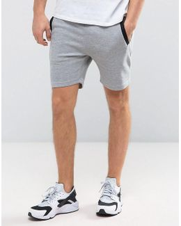Core Jersey Shorts With Rib Side Detail