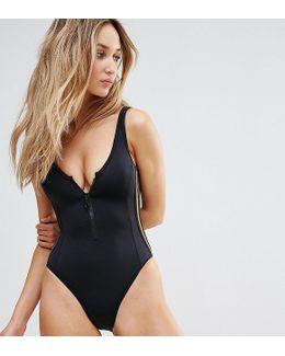 Sporty Zip Swimsuit