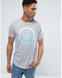 Large Logo T-shirt Slim Fit In Grey Marl