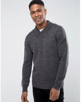 Lamb Shawl Collar Sweater