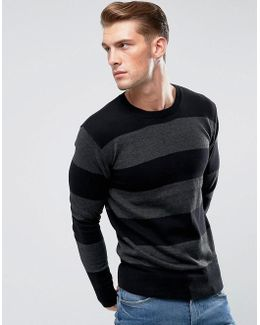 Wide Striped Knitted Sweater