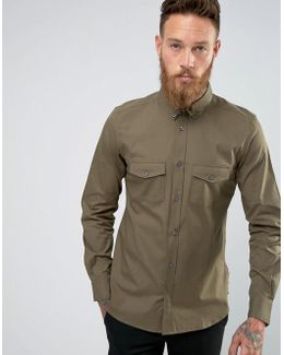 Overshirt With Twin Pockets