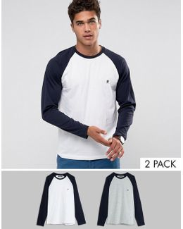 2 Pack Raglan Long Sleeve Top