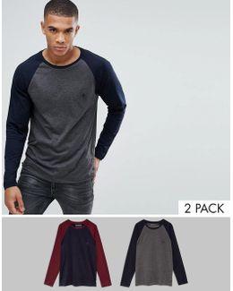 2 Pack Raglan Long Sleeve Top