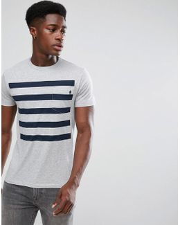 5 Stripe Gradient T-shirt With Pocket