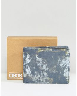 Leather Wallet With Camouflage Print