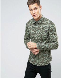 Regular Fit Camo Print Shirt