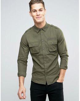 Regular Fit Cargo Shirt