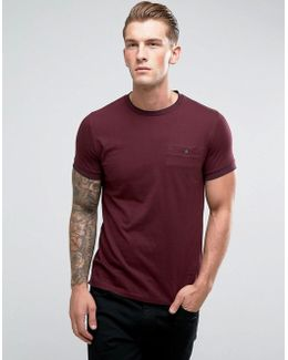 T-shirt With Tipped Pocket And Collar