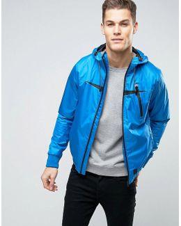 Windbreaker Zip Thru Hooded Jacket